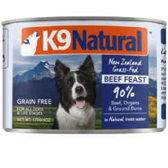 K9 Natural Beef Feast Can